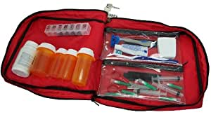 Prescription Medication Bag Combination Keyed Lock Travel Case