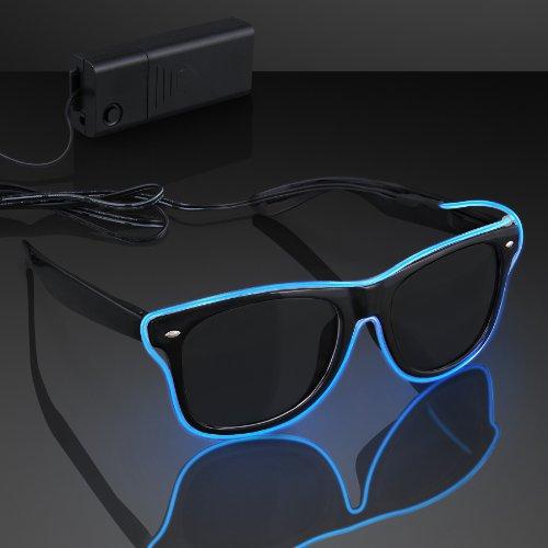 El Wire Blue Neon Sunglasses