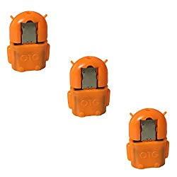 """(3 Pack) Storiteâ""""¢ Android Shape OTG Adapter Micro USB OTG to USB 2.0 Adapter for Smartphones & Tablets (Orange)"""