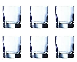 Arcoroc Islande Old Fashion Tumbler Set, 300ml, Set of 6, Transparent