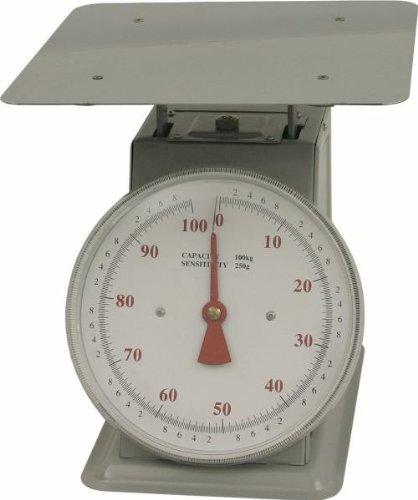 WAS 2500100 balance culinaire pouvant supporter jusqu'à 100 kg 200 g avec plateau en verre