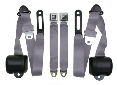 Chevy & GMC Truck Seat Belts, GM Latch, Bench, Grey (1987 Chevy Bench Seats compare prices)