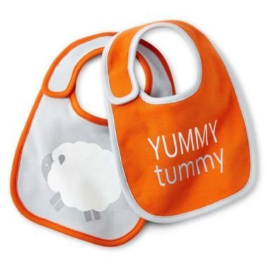 GiggleBaby Yummy Tummy Bib - Pack of 2 - 1