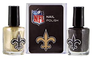 NFL New Orleans Saints Two-Pack Team Colored Nail Polish