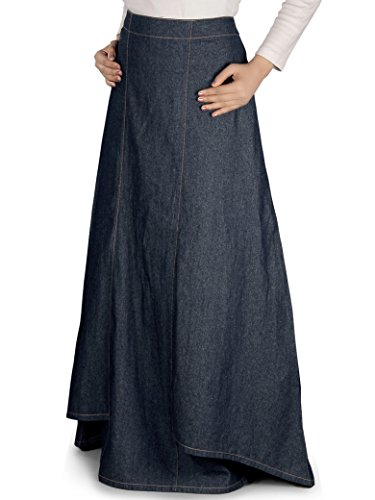 MyBatua Women's Zia Denim Skirt in Blue (Medium)