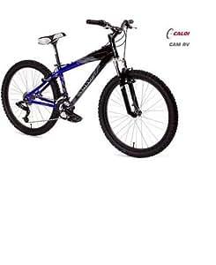 "2005 Caloi 17 "" RV 24 Speed Mountain Bike Black / Blue Alumium Frame."