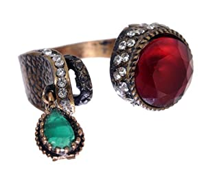 Amazon.com: Hurrem Sultan Antique Ruby and Emerald Gemstone Vintage