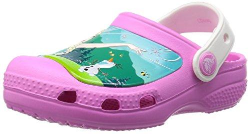 crocs CC Frozen Fever Clog (Toddler/Little Kid), Party Pink/Oyster, 10/11 M US Little Kid