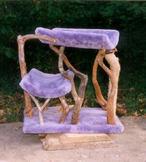 Buy Table Topper Rustic Cat Tree : Color ROSE : Leg Covering NO SISAL ROPE : Size 2 CRADLES