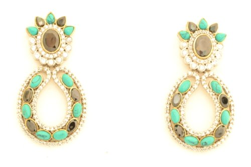 Fashion Balika Fashion Jewelry Gold-Plated Dangle & Drop Earring For Women Gold-BFJER015 (Yellow)