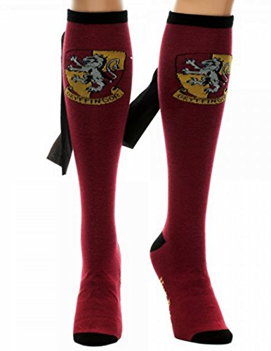 Harry Potter GRYFFINDOR Crest Maroon Knee-High SOCKS with CAPE