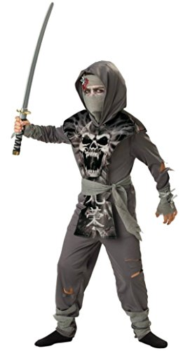 Boys Zombie Ninja Kids Child Fancy Dress Party Halloween Costume