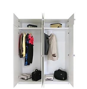 Amazon Com Alta 8 Door Wardrobe Closet Basic Package