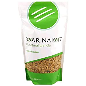 Bear Naked All-Natural Granola, Apple Cinnamon, 12-Ounce Bags (Pack of 6)