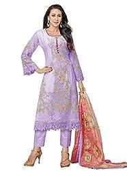 Mahaveer Fashion Women's Dress Material (9800_30_630007_Purple_Free Size)