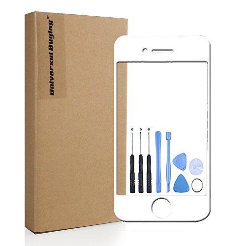 Screen Replacement, Universal Buying(TM) iPhone 4 4s Repair Front Fitted LCD Outer Glass Lens Touch Screen Digitizer Protective Cover with Free Tools, White (Iphone 4 Front White compare prices)