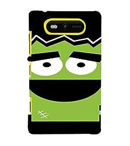 PrintVisa Cute Cartoon Gym Design 3D Hard Polycarbonate Designer Back Case Cover for Nokia Lumia 820