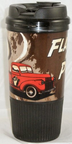 Busted Knuckle Garage 08-Bkg-Wtm-Pu Insulated Pick-Up Truck Travel Mug
