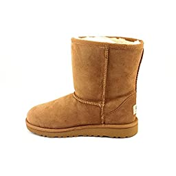 UGG Australia Girls\' Classic Short Sheepskin Fashion Boot Chestnut 4 M US