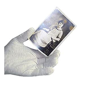 Archival Methods White Cotton Gloves (Large, 12 Pairs)
