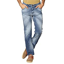 Provogue Men's Gibson Slim Fit Jeans (8903522454295_103704-BL-024-32_Blue)