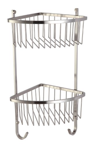 Get Best Deal For Hane Dual Tiers Stainless Steel Bathroom Shower Caddy Storage Shelf Basket Hanging 09 150 Brushed Nickel Bathroom Shelves Cheap Prices