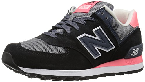 New Balance 574, Scarpe Running Donna, Multicolore (Black/Pink 018), 39 EU
