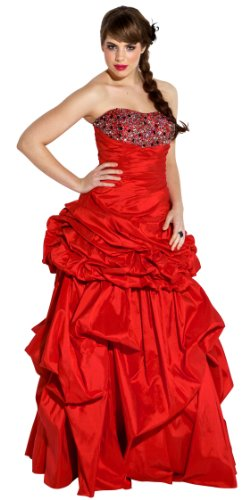 Cheap Beaded 2pc Convertible Ball Gown Bubble Dress Bridal Prom Junior Plus Size