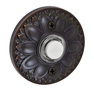 Fusion Hardware BEL-D8-ORB Designer Collection Floral Doorbell, Oil Rubbed Bronze, 1-Pack