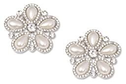 Pearl and Crystal Shoe Clips Audrey