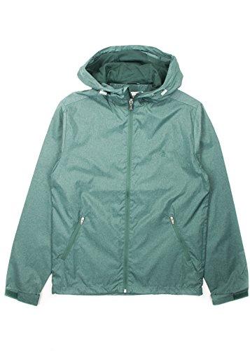 original-penguin-hombre-melange-zip-hooded-jacket-verde-large