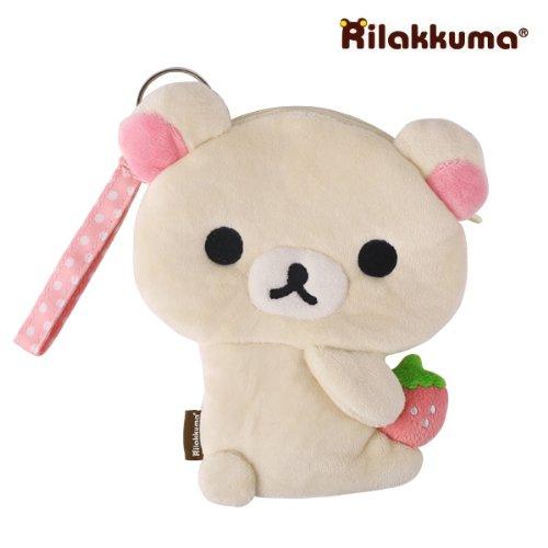 San-X Rilakkuma Plush Doll Multi Purpose Pouch (Korilakkuma)