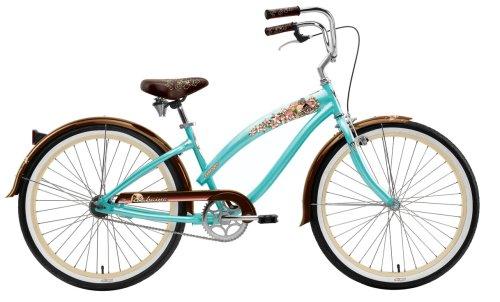 Nirve Lahaina Women's Single-Speed Cruiser Bike (Coral Teal)
