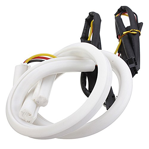 Best Brand 30Cm White Amber Switchback Headlight Led Strip Drl Run Light