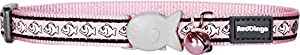 Red Dingo Cat Collar, 12 mm/ 20 - 32 cm, Reflective Pink