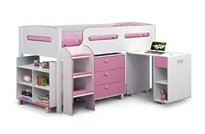Happy Beds Kimbo Sleep Station Blue / Pink 3ft Single Kids Bunk Bed Furniture
