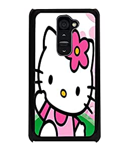 Printvisa Pink Kitty Back Case Cover for LG G2::LG G2 D800 D980