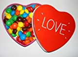 American peanut butter M&M's love heart tin