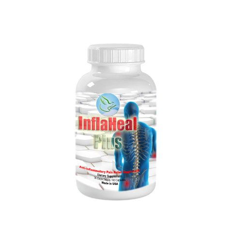 "Inflaheal Plus-Combats The ""Silent Killer"" - Chronic Inflammation. A Pain Relief Supplement For Whole Body. Also Supports Blood Circulation, Immune System, Skin, Vision, Cardiovascular Function, Small Injury Recovery, Digestion And Metabolism."