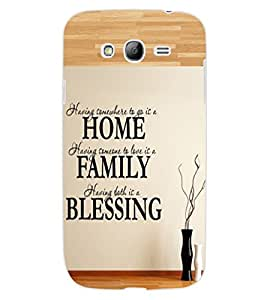 ColourCraft Quote Design Back Case Cover for SAMSUNG GALAXY GRAND NEO I9060