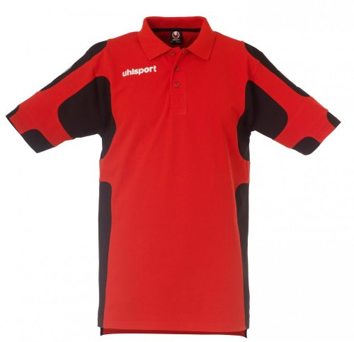 Uhlsport polo Cup, Unisex, Poloshirt Cup, rosso/nero, S