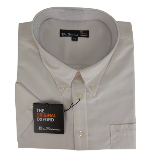 New Mens White Ben Sherman Oxford Eton Smart Shirt King Big Size 2X