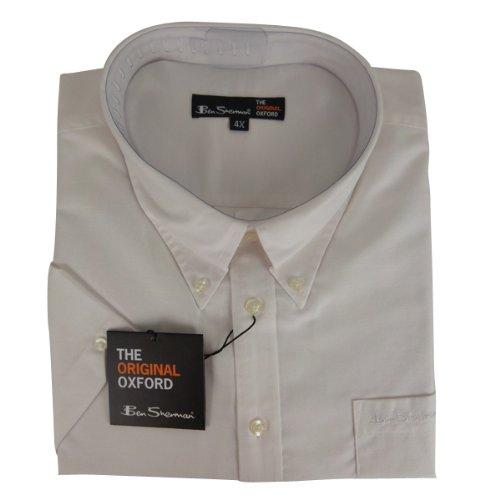 New Mens White Ben Sherman Oxford Eton Smart Shirt King Big Size 2X