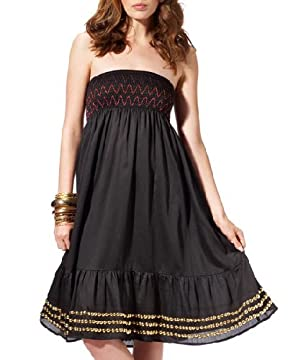 bebe.com : Smocked Beaded Strapless Dress :  smocked dress dress dresses empire waist
