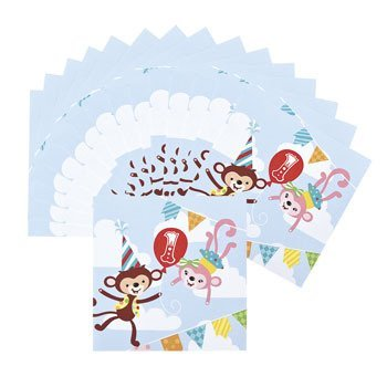 Paper 1st Birthday Circus Luncheon Napkins