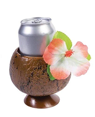 Luau Party Coconut Cup w/Flower Pkg/12