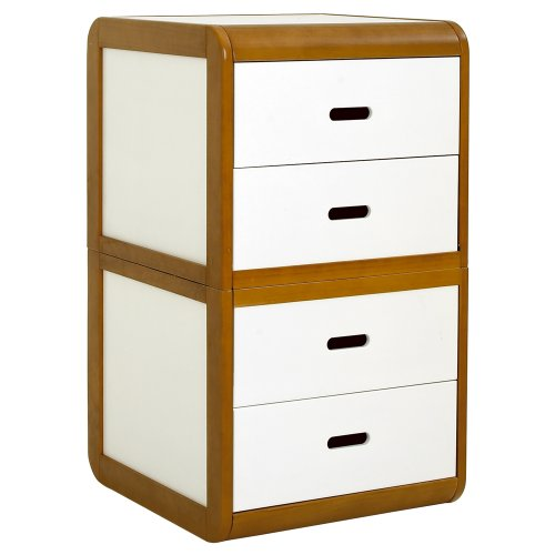 East Coast Rio Chest Of Drawers In Dark Wood & White FREE DELIVERY