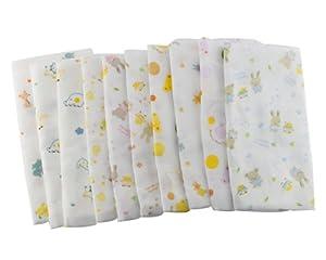 BONAMART ® 2 X Grande baño toalla baños alimentación limpiar paño Toallita algodón Para Bebé 31X80cm - BebeHogar.com