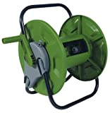 HOSE REEL FREE STANDING OR WALL MOUNTED. HOLDS 60m OF HOSE. EASY WIND HANDLE