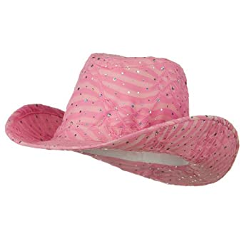 glitter cowboy hat pink at s clothing store